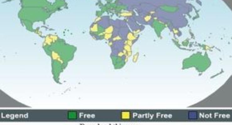 Freedom House снова признал Россию несвободной страной