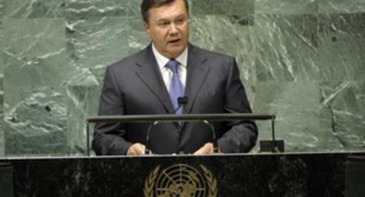 Янукович сегодня выступит на Пленарном заседании Генассамблеи ООН