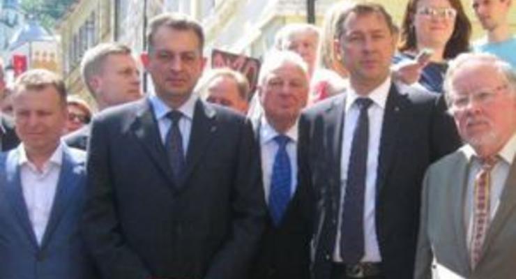 На Замковой горе в Киеве открыли памятный знак