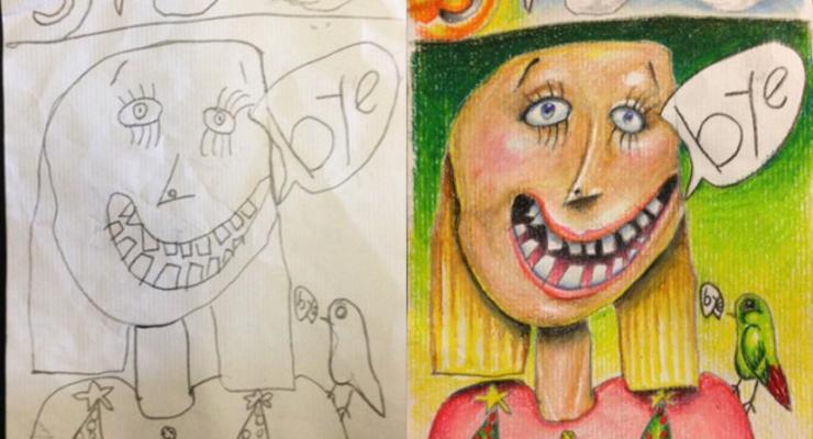 Изобретатель превращает детские рисунки в шедевры
