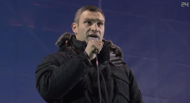 Виталий Кличко вызвал Януковича на ринг (ВИДЕО)