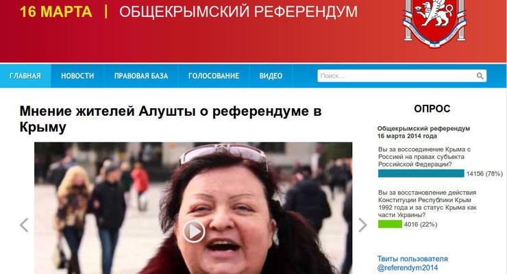 У референдума в Крыму появился свой сайт