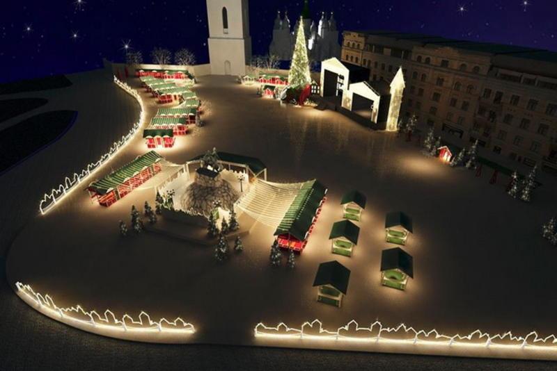 Такой будет Софийская площадь на Новый год / facebook.com/FolkUkraine