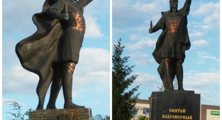 В Харькове украли меч у Александра Невского и повредили три памятника