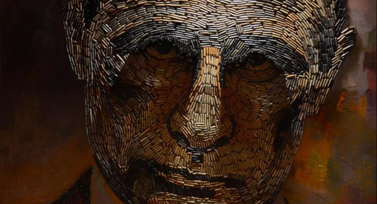 Художница создала портрет Путина из собранных на Донбассе гильз