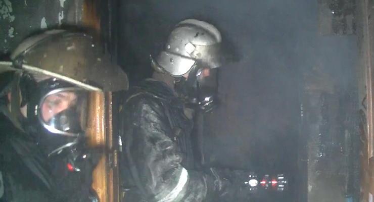 В Харькове горела девятиэтажка, погиб человек