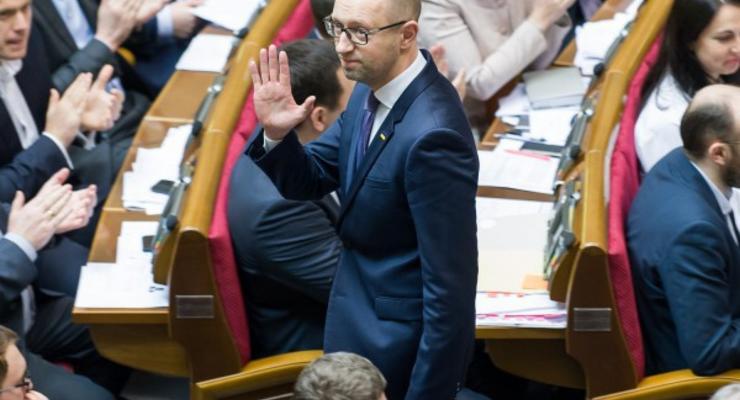 Яценюк ушел из Рады, не дожидаясь отставки и речи Порошенко