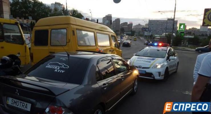 Авария в Киеве закончилась стрельбой