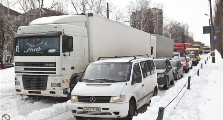 В понедельник в Киев ограничен въезд крупногабаритного транспорта
