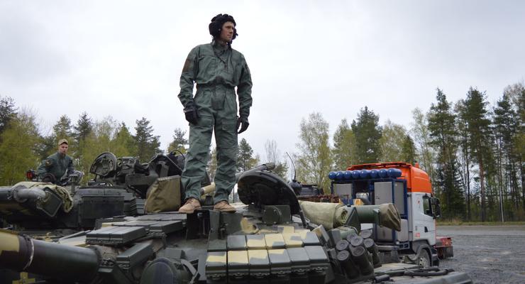Украинские танкисты участвуют в соревнованиях в Германии