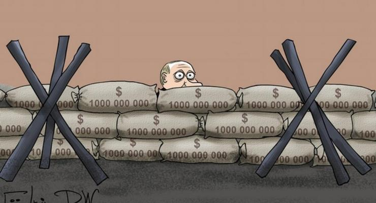 На Тверской - противотанковые ежи: карикатура о протестах в России