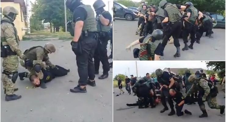 Рейдерские разборки в Кировоградской области: видео потасовок с полицией