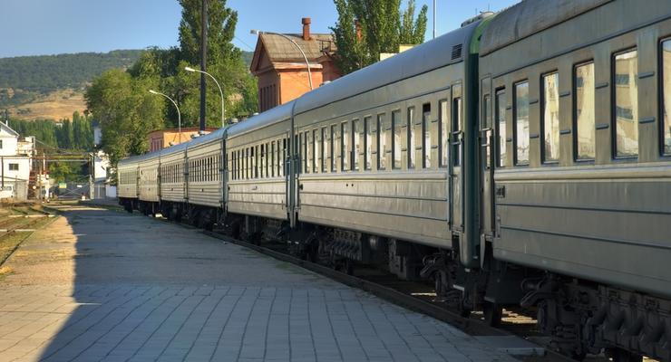 В Киевской области загорелся поезд Киев-Харьков