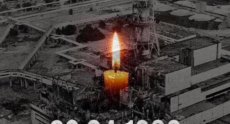В Украине почтили память героев Чернобыльской АЭС