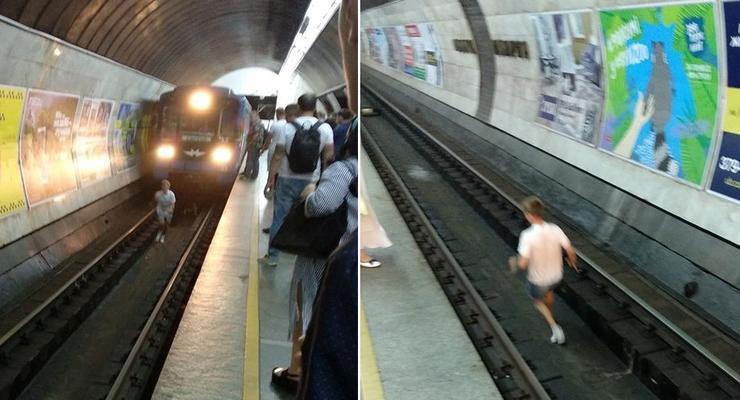 В киевском метро подростки прыгали под поезд