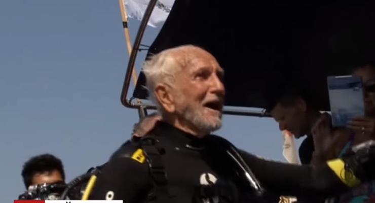 Самый старый аквалангист установил новый рекорд