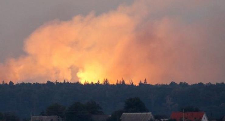 Взрывы на складе близ Ични: на нескольких трассах перекрыто движение