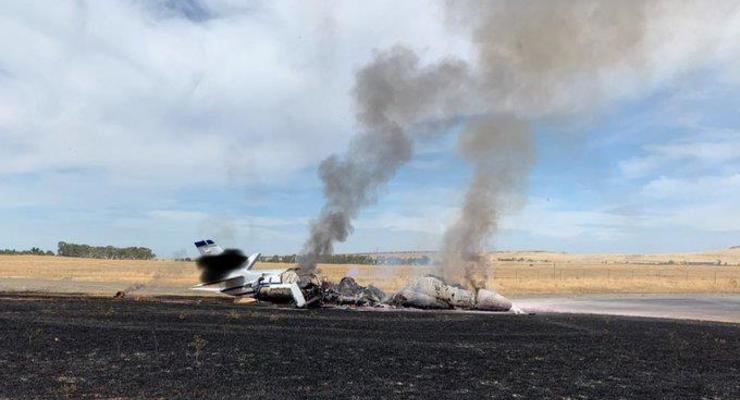 В США пассажирский самолет загорелся при взлете