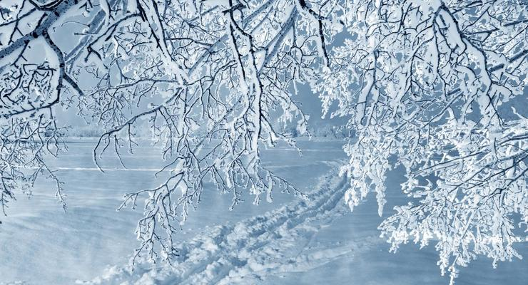 Украину засыпало снегом, лед и метели