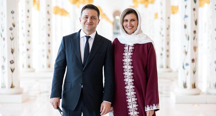 Первая леди Украины примерила хиджаб