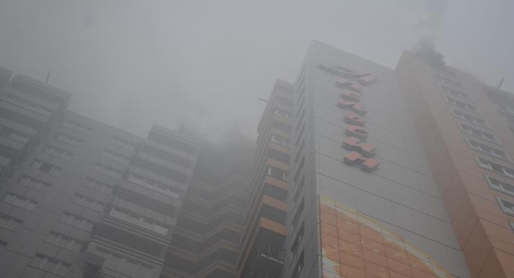 В Одессе горел офис на 24-м этаже жилого дома