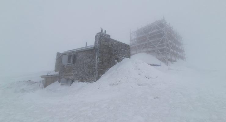В Карпатах идет снег, температура минусовая