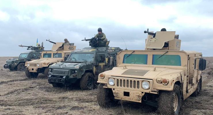 В Донецкой области пограничники проводят учения