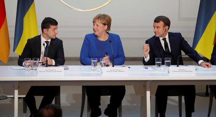 Зеленский, Макрон и Меркель призвали Путина отвести войска