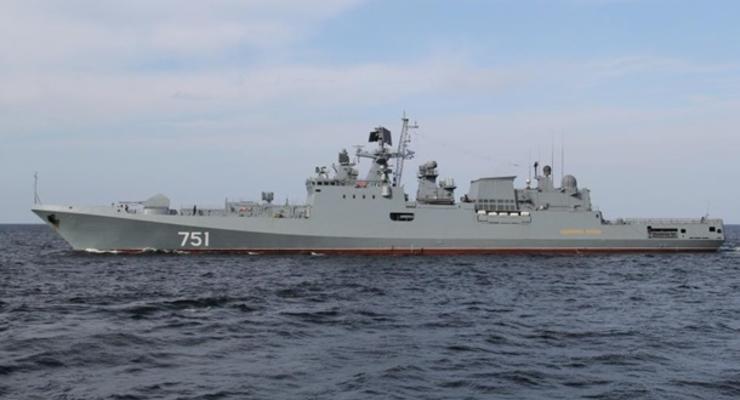 Военные корабли РФ вышли в море в районе Крыма