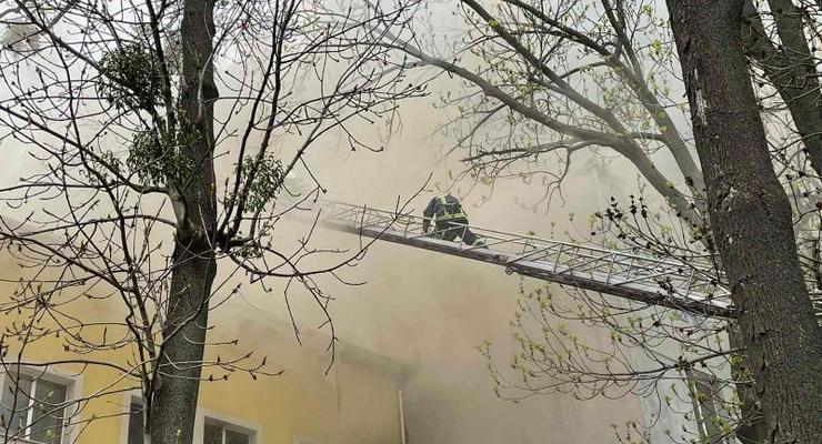 В Виннице ликвидировали пожар в офисном здании