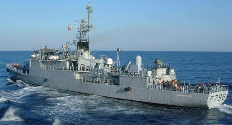 Французский патрульный корабль вошел в Черное море