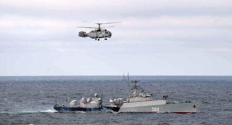 Возле Черноморска пограничники обнаружили ракетный корвет РФ