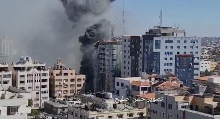 Израиль авиаударом разрушил очередную башню в Газе