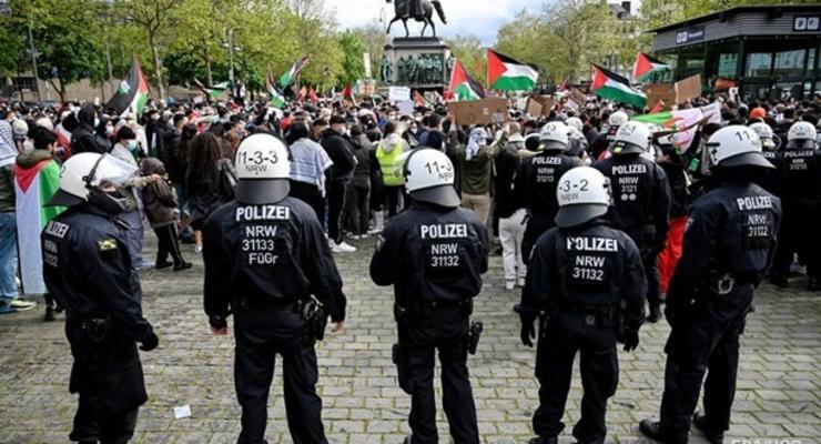 В Европе протестуют в поддержку Палестины