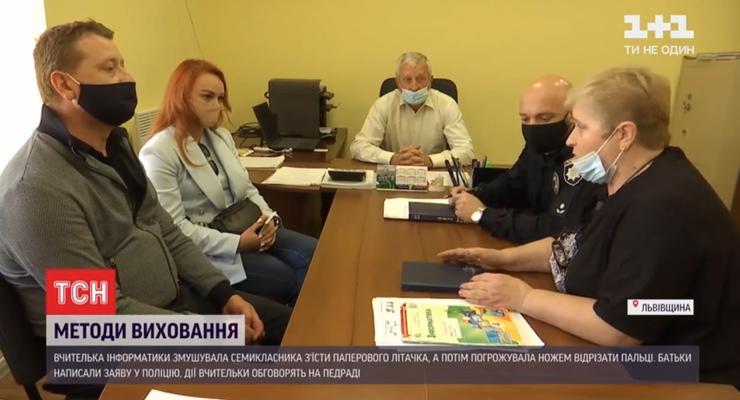 На Львовщине учительница размахивала ножом перед учеником