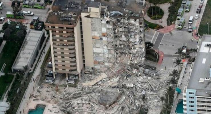 Момент обрушения многоэтажного жилого дома в Майами попал на видео
