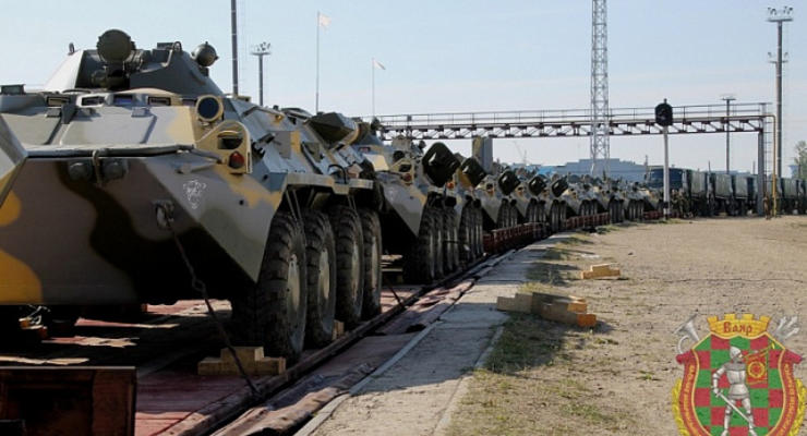 В Беларусь начали прибывать военные эшелоны РФ