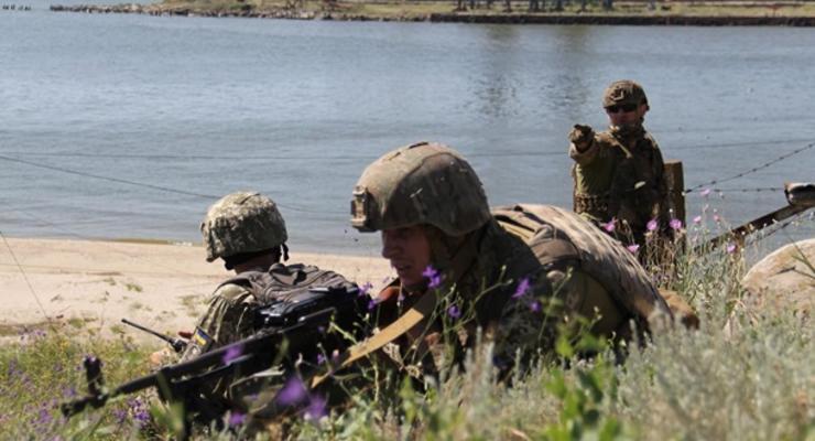 Одесские морские пехотинцы провели учения