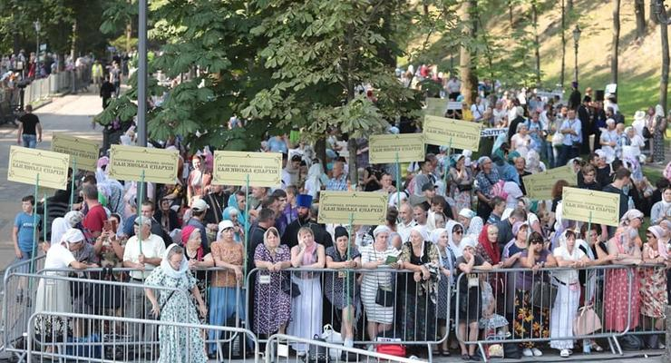 Киев парализовали пробки из-за крестного хода УПЦ МП