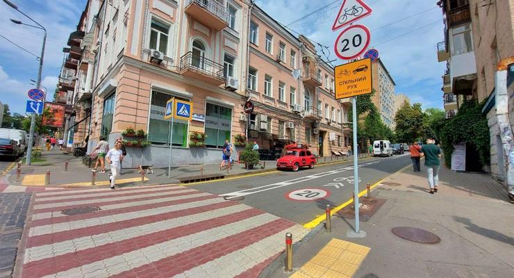 В центре Киева ограничили скорость на некоторых улицах