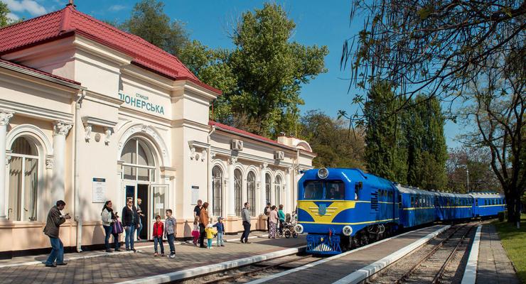 В Днепре на день города запустили детскую железную дорогу