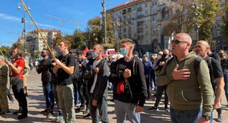 Протест ветеранов и волонтеров АТО под Киеврадой: заповедник на озере Вырлица является пророссийским проектом