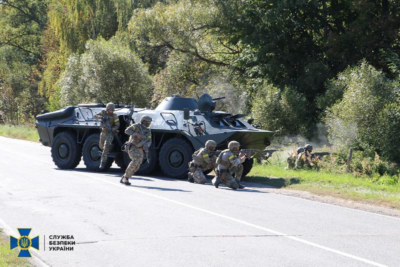 СБУ провела масштабные учения возле границы с РФ / ssu.gov.ua