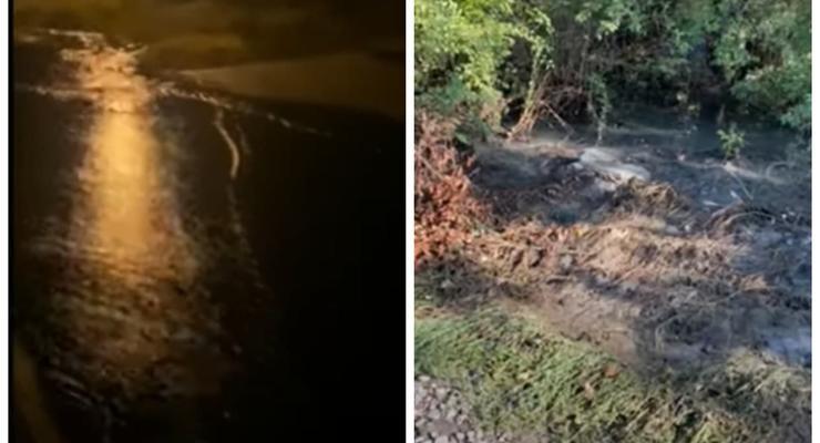 В Николаеве из-за порыва канализации дома и улицу затопило нечистотами