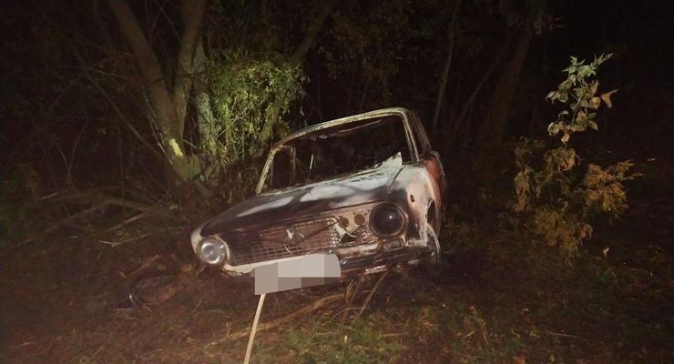Под Харьковом пьяный водитель сгорел вместе с машиной
