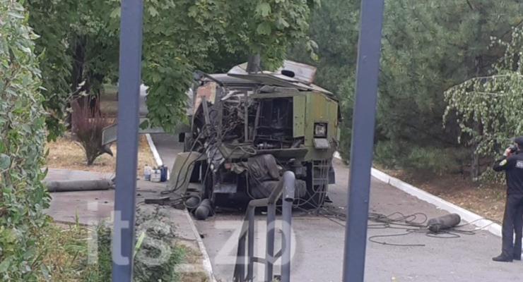 На территории Запорожского медуниверситета произошел взрыв