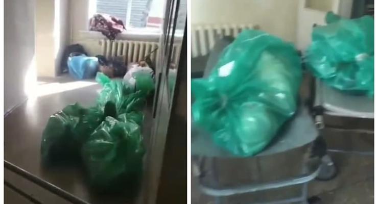 Трупы складывают в коридорах: В Сеть попало видео из больницы в Донецке