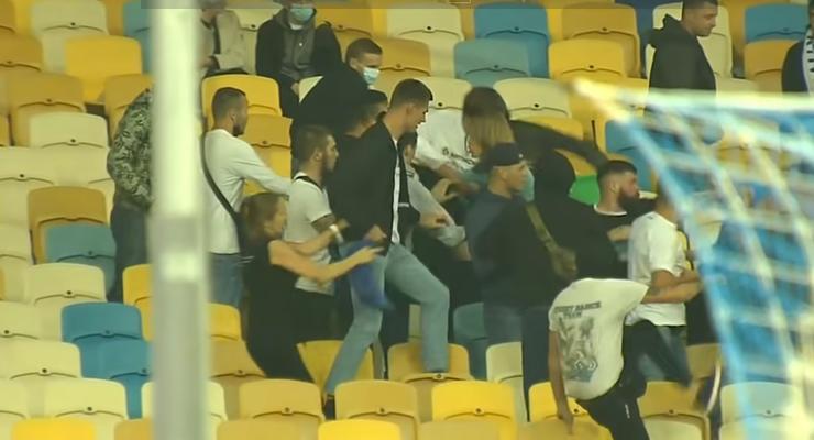 """Драка на НСК """"Олимпийский"""": полиция вручила подозрение участнику"""