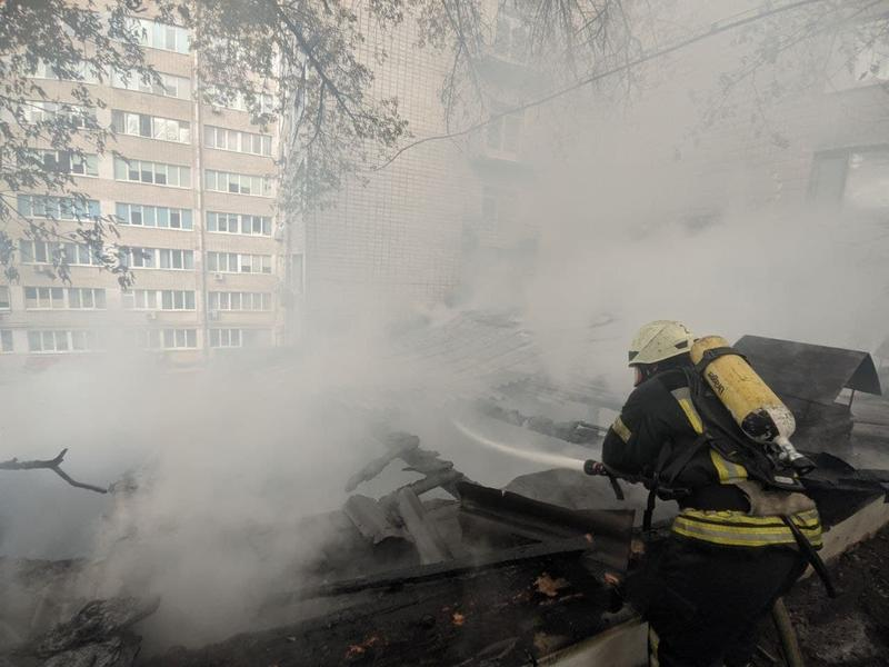 Фото с места пожара / ГСЧС
